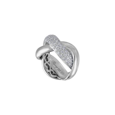 Vintage Poiray 18k White Gold Diamond Ring // Ring Size: 5