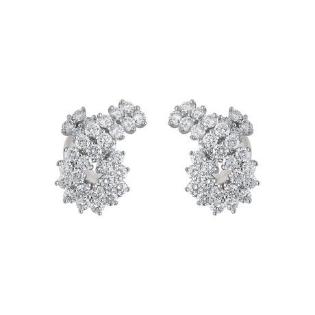 Vintage Tiffany & Co. Platinum Diamond Earrings