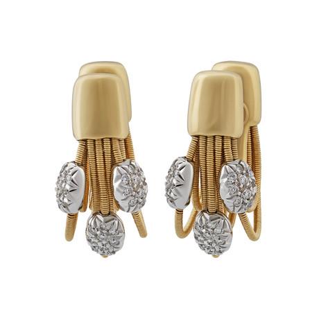 Vintage Marco Bicego 18k Yellow Gold Diamond Earrings