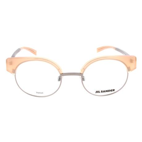 Unisex J2006 Optical Frames // Titanium + Amber