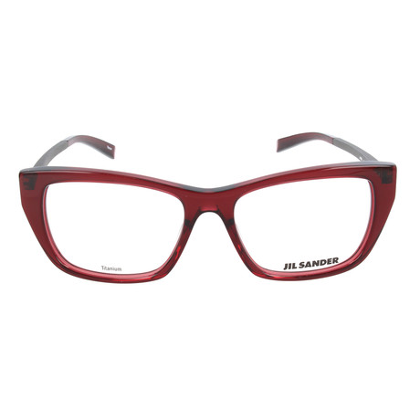 Women's J4005 Optical Frames // Dark Red + Dark Gunmetal