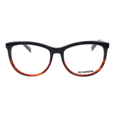 Women's J4012 Optical Frames // Black Red Gradient + Rose Gold