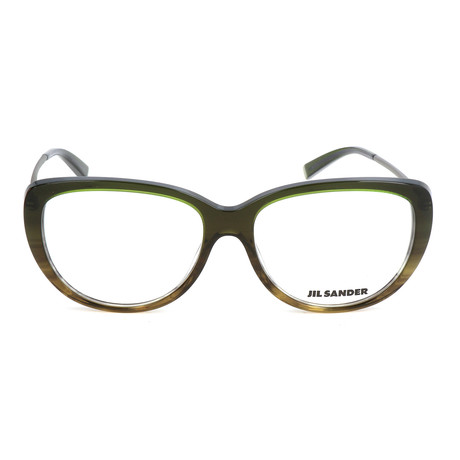 Women's J4003 Optical Frames // Green Gradient + Light Gunmetal