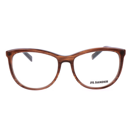 Women's J4012 Optical Frames // Brown Structured + Gunmetal