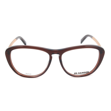 Women's J4013 Optical Frames // Brown + Gold