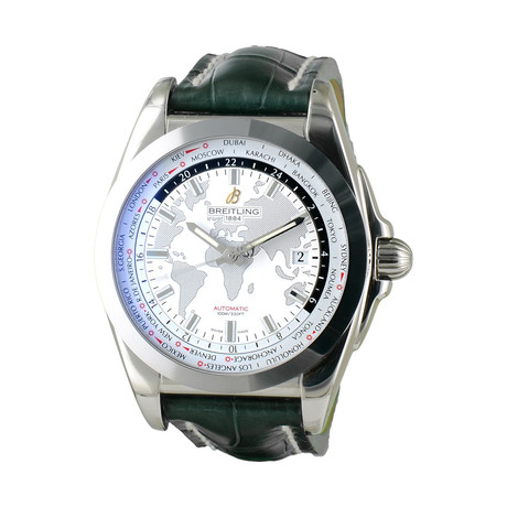 Breitling Galactic Unitime World Map Automatic // WB3510U0/A777 // New