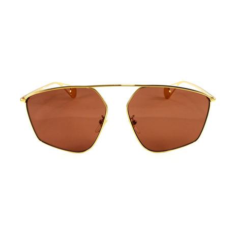 Gucci Women's Sunglasses // GG0437SA // Gold + Brown