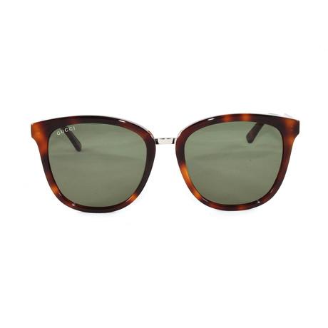 Gucci Women's Sunglasses // GG0073S // Havana Silver