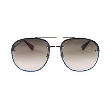 Gucci Women's Sunglasses // GG0227S // Ruthenium