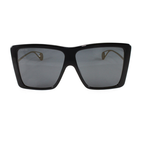 GG0434S Sunglasses // Black + Gold