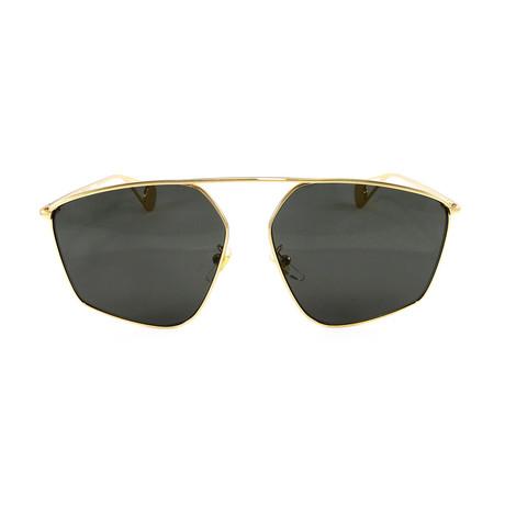 Gucci Women's Sunglasses // GG0437SA // Gold + Charcoal