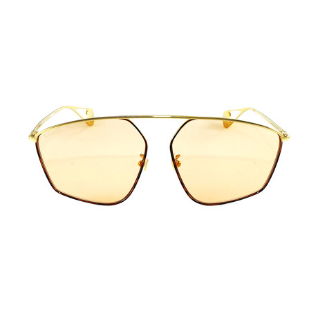 Gucci Women's Sunglasses // GG0437SA // Gold