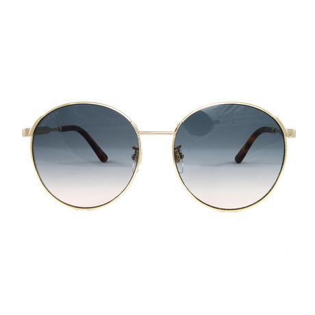 Gucci Women's Sunglasses // GG0206SK // Gold + Blue
