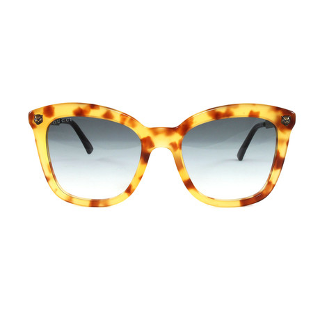 Gucci Women's Sunglasses // GG0217S // Light Havana Gold