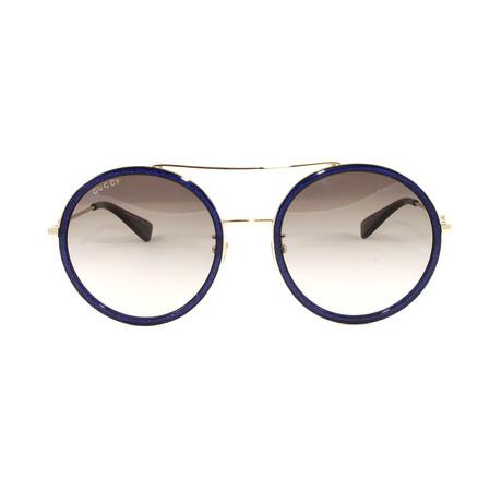 Gucci Women's Sunglasses // GG0061S // Gold + Blue