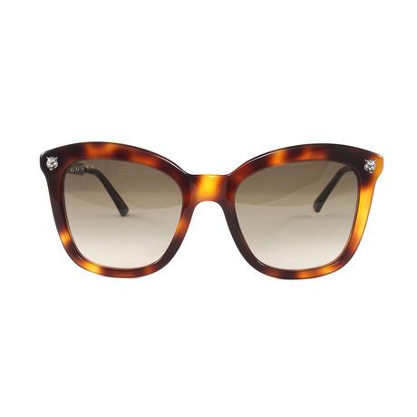 Gucci Women's Sunglasses // GG0217S // Havana Silver