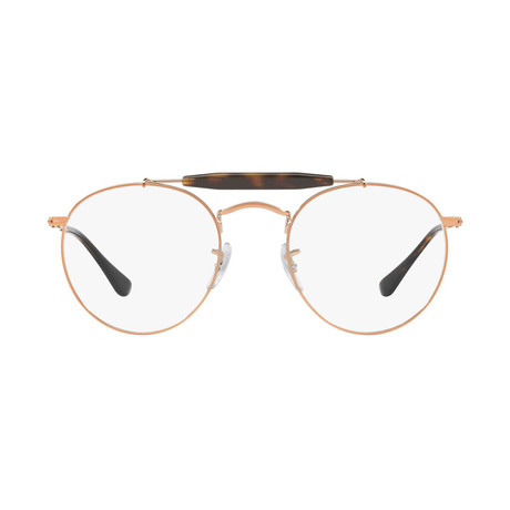 Ray-Ban // Men's Round Optical Frames // Bronze + Copper