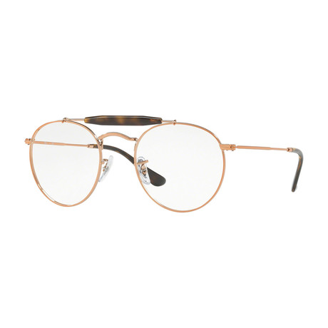 Ray-Ban // Men's 0RX3747V Round Optical Frames // Bronze + Copper