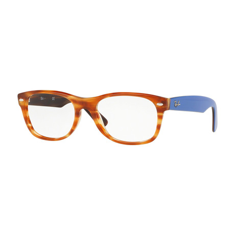 Men's 0RX5184 New Wayfarer Optical Frame // Tortoise + Blue
