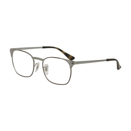 Ray-Ban // Men's Squared Optical Frames // Gunmetal + Brown