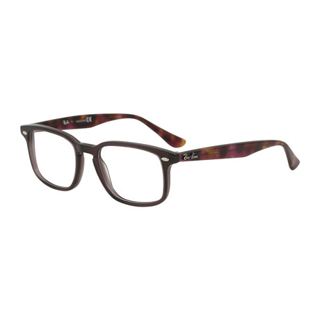 Men's Squared Optical Frame // Opal Brown