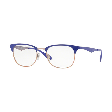Metal Optical Frame // Blue + Gold