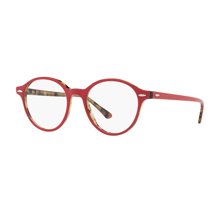 Unisex 0RX7118 Round Optical Frame // Bordeaux + Havana
