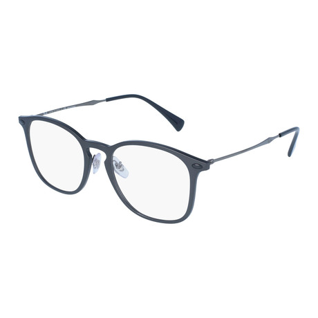 Men's Squared Optical Frame // Dark Gray