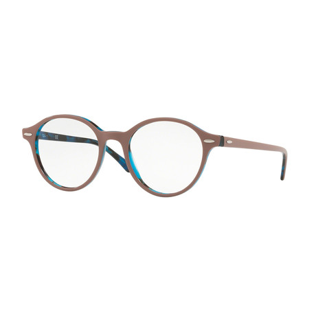 Ray-Ban // Men's 0RX7118 Dean Round Optical Frames // Light Brown + Blue Tortoise