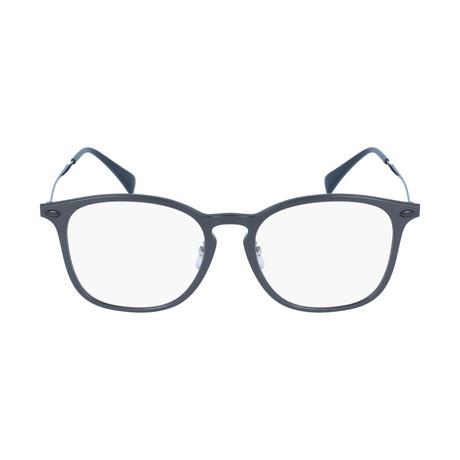 Men's Squared Optical Frames // Dark Gray