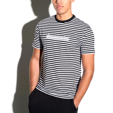 Striped Arc T-Shirt // Black + White (L)