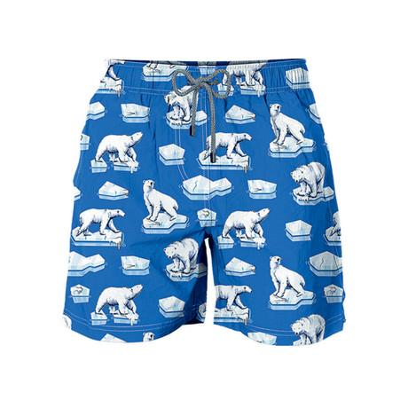 Ice Bear All Over Swim Short // Blue (S)