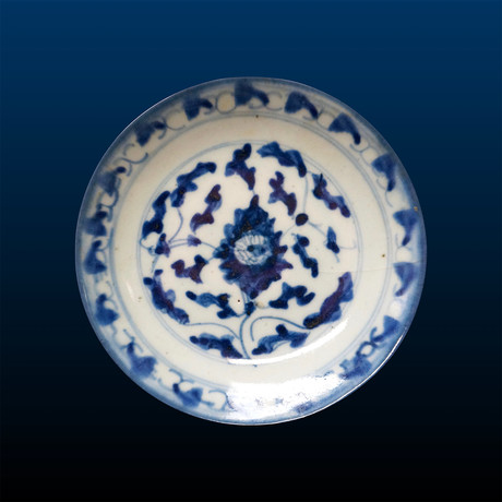 Chinese Blue + White Dish // Qing Dynasty, China Ca. '1850-1910' CE