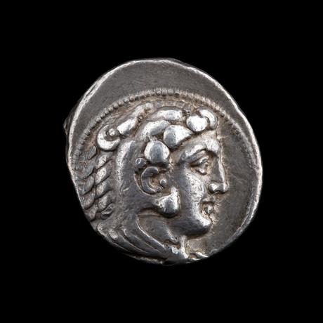 Alexander The Great Silver Tetradrachm // Macedonian Kingdom – Ca. 336-323 BCE // Myriandrus