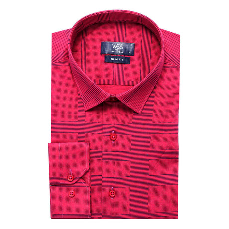 Piers Slim-Fit Shirt // Red (S)