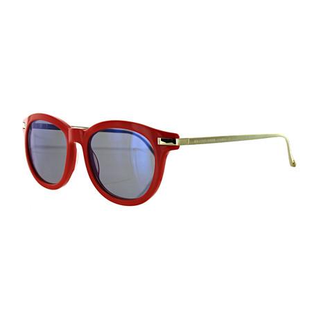 Vilebrequin // Unisex 1922101 Round Sunglasses // Red