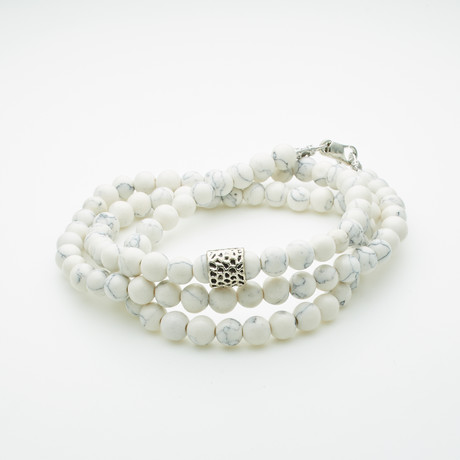 Healing Stone 2-In-1 Necklace + Wrap Bracelet // Howlite (S)
