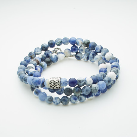 Healing Stone 2-In-1 Necklace + Wrap Bracelet // Sodalite (S)