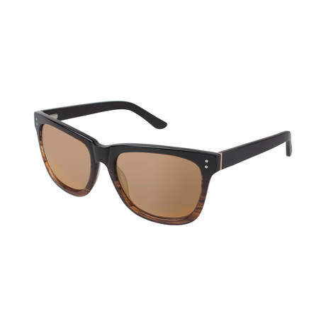 Men's Jovan Square Polarized Sunglasses // Brown Fade
