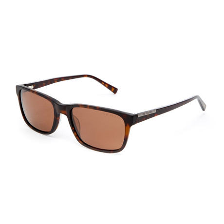 Jimmy Rectangle Polarized Sunglasses // Tortoise