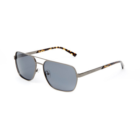 Men's Jayce Rectangle Polarized Sunglasses // Dark Gunmetal