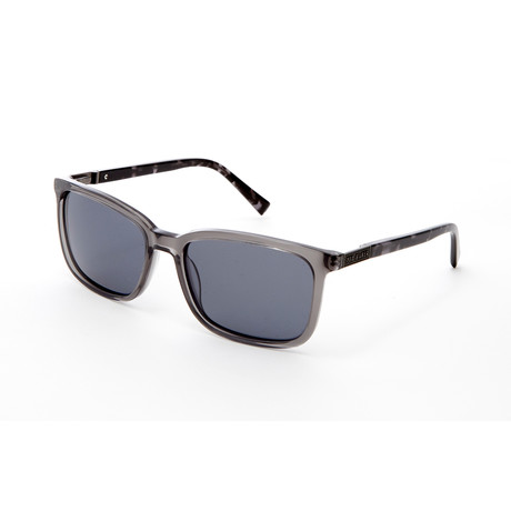 Men's Ibrahim Rectangle Polarized Sunglasses // Gray Crystal