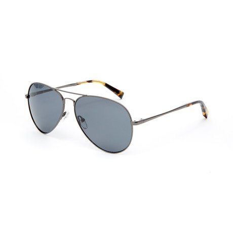 Jair Aviator Polarized Sunglasses // Dark Gunmetal