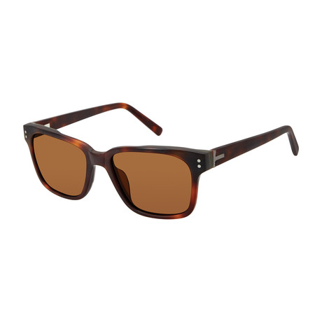 Men's Javon Square Polarized Sunglasses // Tortoise