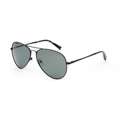 River Aviator Polarized Sunglasses // Black
