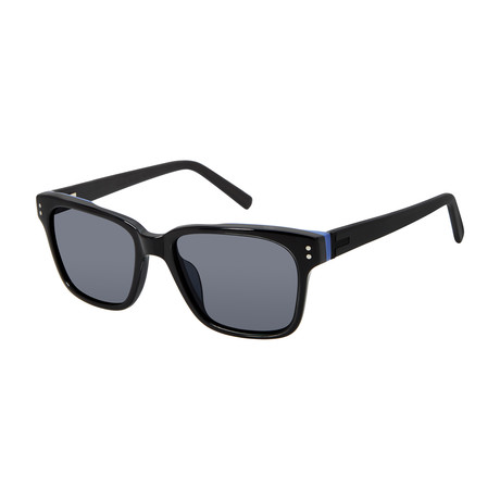 Men's Hugo Square Polarized Sunglasses // Black
