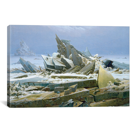 "The Polar Sea, 1824 // Caspar David Friedrich (18""W x 12""H x 0.75""D)"