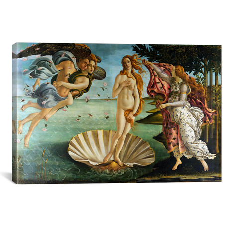 "Birth of Venus // Sandro Botticelli (18""W x 12""H x 0.75""D)"