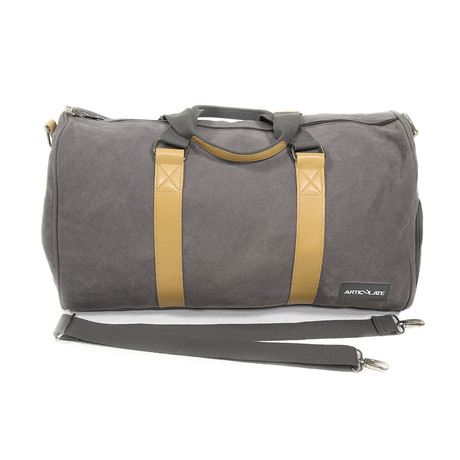 Duffle Bag // Charcoal + Beige