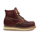 Steel-Toe Dual Density Work Boot // Burgundy (US: 8.5)